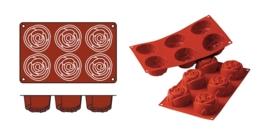 Bakmat 1/3 GN - Rose - SilikoMart