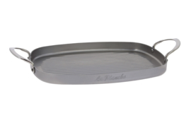 Grillplaat / grillpan plaatstaal - 38x26 cm - Mineral B - De Buyer