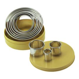 Stekerdoos - 10-delig: blik, rond, glad (3-10 mm)