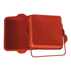 Flexibele bakvorm - Taartvorm vierkant - Silikomart - Uniflex