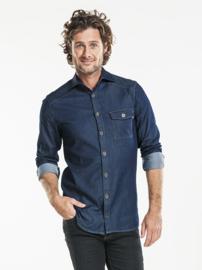 Blouse / shirt Chaud Devant - Men Blue Denim Stretch