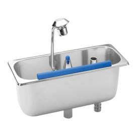 IJsportioneerlepelbak - Rvs, met wateraansluiting - 3 opties
