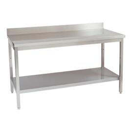 Werktafel - voorzien van achteropstand en onderplank