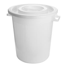 Voedselcontainer - Kunststof, met deksel - 50/75/120 liter