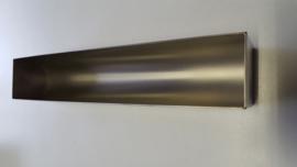 Patévorm halfrond vorm U - 30 x 5,5 x 5,5 cm - rvs zware kwaliteit