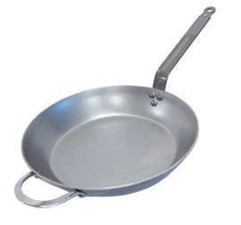 Koekenpan plaatstaal - 32 cm - Mineral B - De Buyer