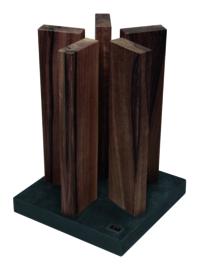 Messenblok Kai Stonehenge Walnotenhout met granieten voet STH-4