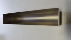 Patévorm halfrond vorm U - 50 x 8 x 5,5 cm - rvs zware kwaliteit
