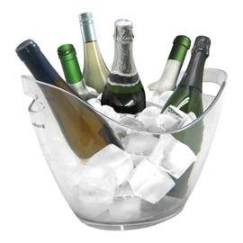 Wijnkoeler - Kunststof, transparant - 2 maten