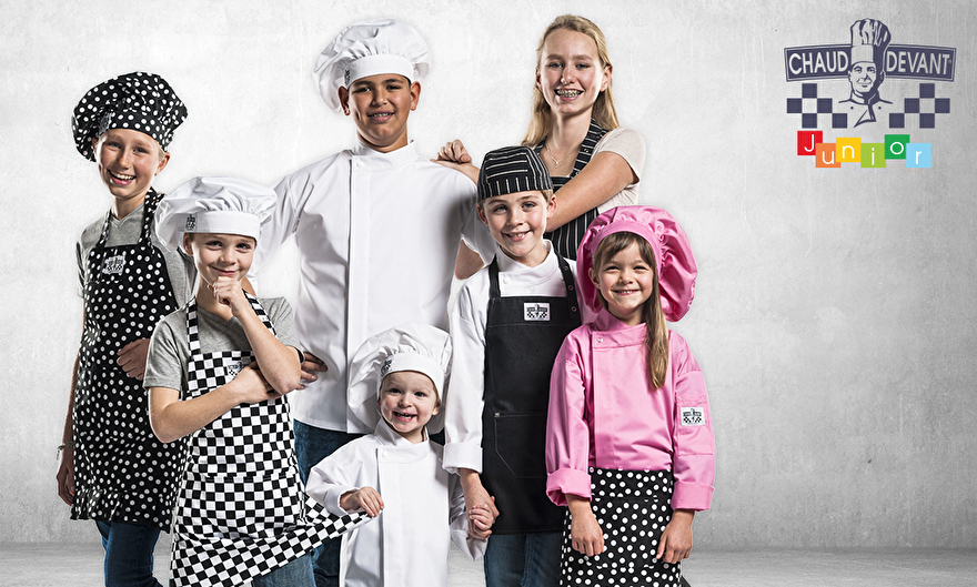 Kinder kokskleding en schorten