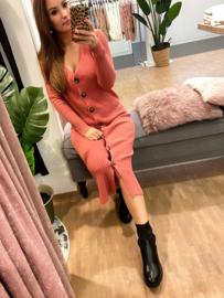 Midi-jurk Manou - roze H178