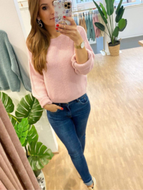 Trui knitted June - roze C109