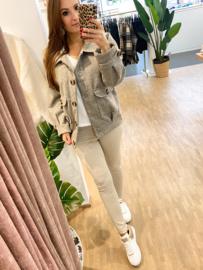 Oversized jacket - grijs H190