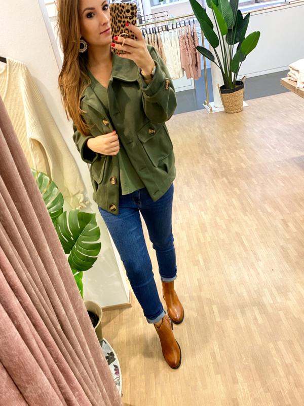 Oversized jacket - khaki H190
