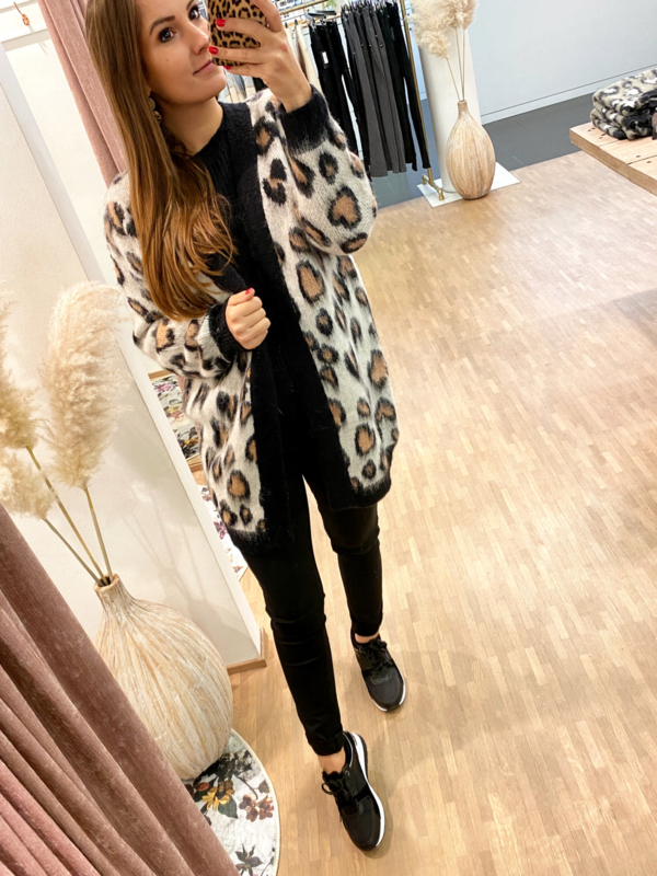 Gilet leopard lang - C281