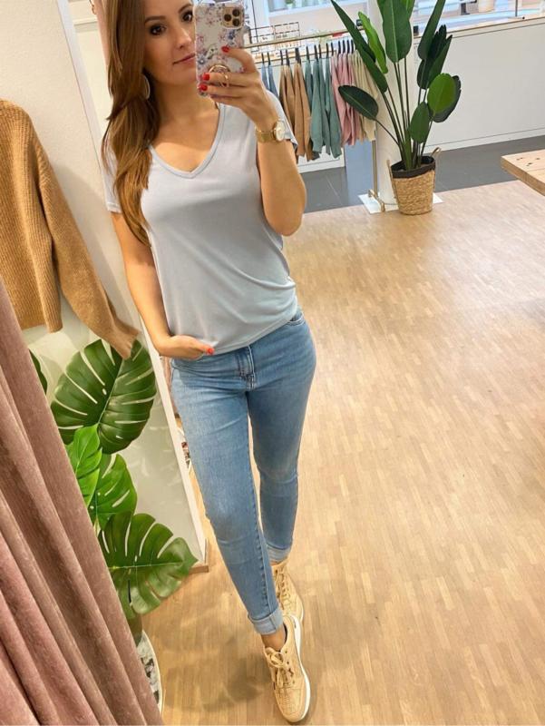 T-shirt basic - blauw C103