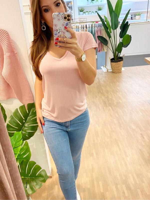 T-shirt basic - roze C103