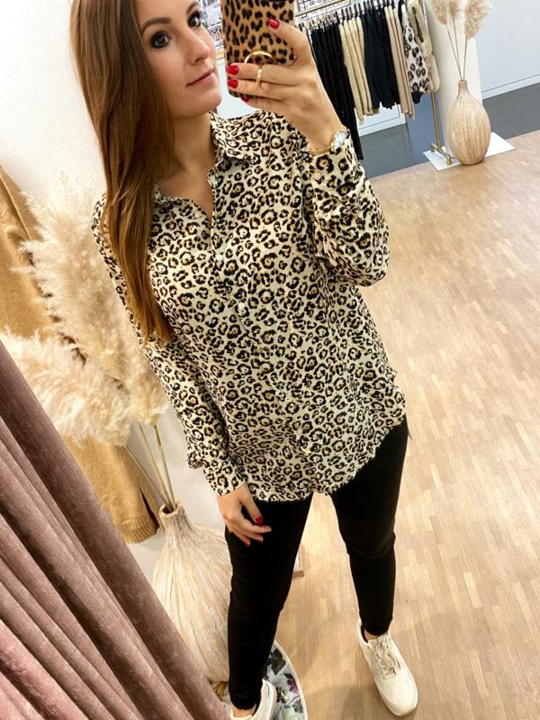 Blouse Caroline leopard - C228