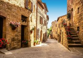 Fotobehang - Tuscany Village - B 366cm x H 254 cm - Multi
