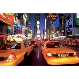 Fotobehang New York Taxi, Timesquare B:3,15 x H:2,32