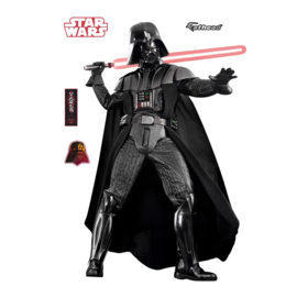 Star Wars Darth Vader muursticker uit vinyl, levensgroot van Fathead, zelfklevend, Super kwaliteit, B.1,24m H. 1,95m