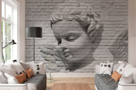 Fotobehang - Angel Brick Wall - B 366cm x H 254cm cm
