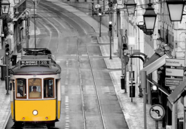 Fotobehang - Streets of Lisbon - b 366 x H 254 cm - Multi