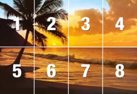 Fotobehang Pacific Sunset - B 366 x H 254 cm - Multi