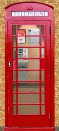 Homedecoration Fotobehang  - Telefooncel - Lifestyle - B 90cm x H 200cmcm.