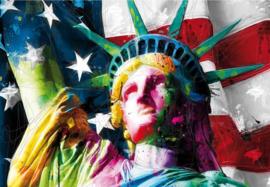 Patrice Murciano - Fotobehang Lady Liberty - B366 x H253 cm - Multicolor