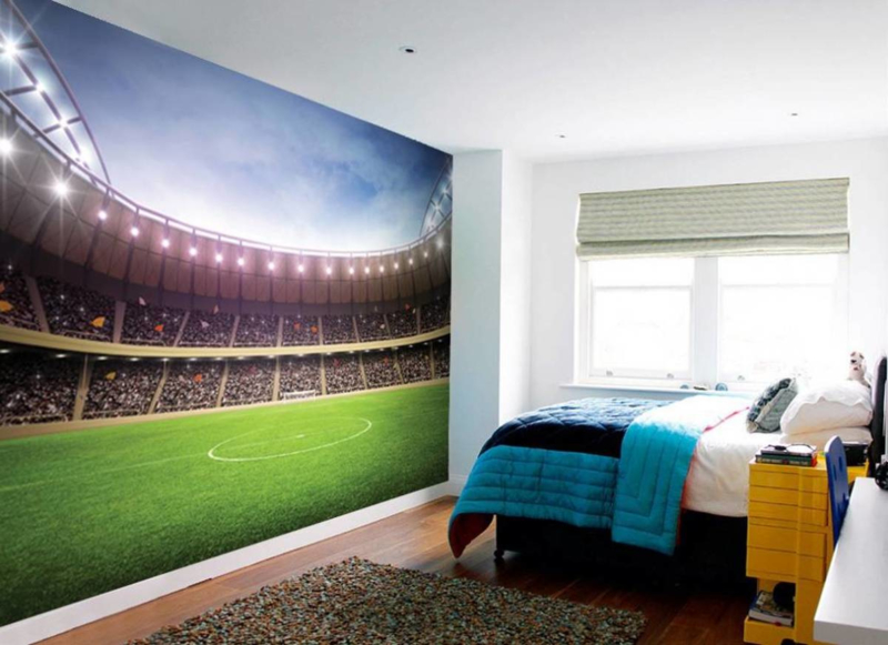Fotobehang - Stadion - Haal het stadion in huis - B.232 x H.315 cm - Multi