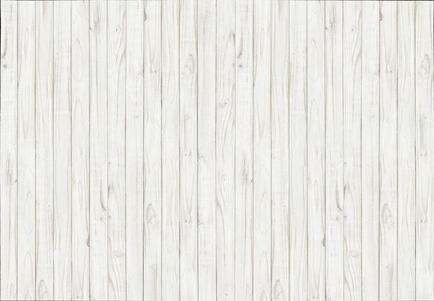 Fotobehang - White Wooden Wall - B 366 x H 254 cm - Wit