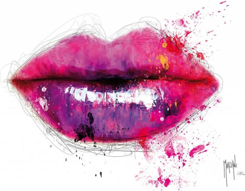 Patrice Murciano - Fotobehang Lippen - b366 x h253 cm - Multicolor