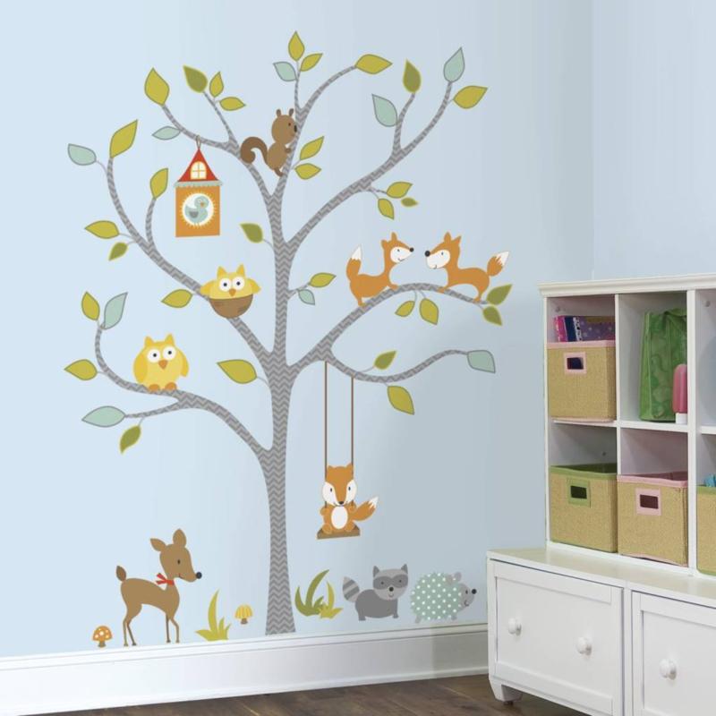 RoomMates vinyl Muursticker Woodland Fox & Friends Tree