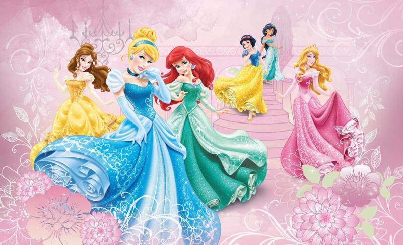 Fantastisch Disney fotobehang met prinsessen, super voor kinderkamer H. 1,45m B. 2,08m