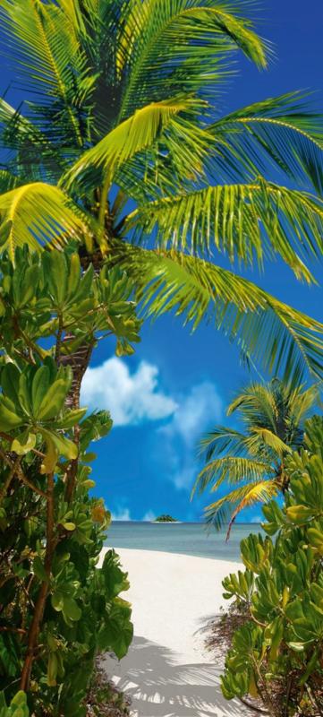Fotobehang  - Tahiti - Natuur - B 90 x H 200 cm.