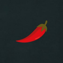 Red Pepper Men's Hoodie | Black