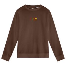 Colored Logo Men's Sweater | Mocha