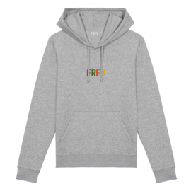 Colored Logo Men's Hoodie | Grey Melee