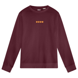 Scrabble Men's Sweater | Burgundy