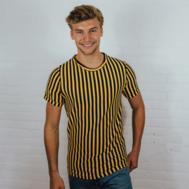 Structured Striped Tee | Yellow