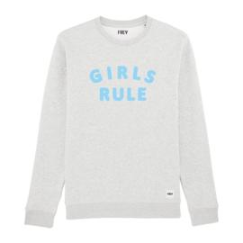 Girls Rule Sweat | Cream Heather Grey