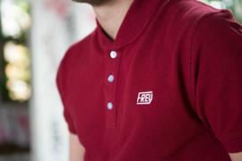 Bomber Collar Polo | Bordeaux rood