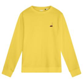 Bumper Car Men's Sweater | Yellow