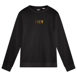 Colored Logo Women's Sweater | Black