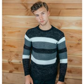 Striped Sweater   Grey
