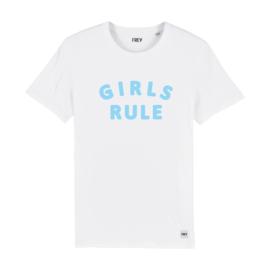 Tee Girls Rule | White