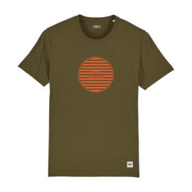 Striped Circle Tee | Khaki