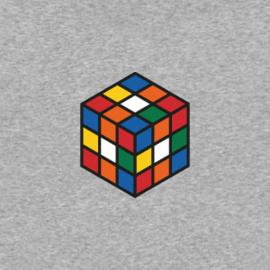 Rubik's Cube Women's Hoodie | Grey Melee