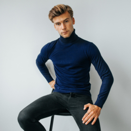 Turtleneck Pullover | Navy